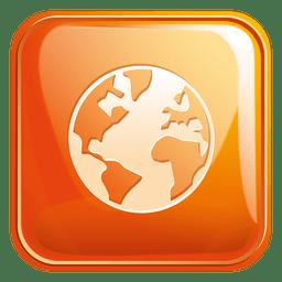 Globe square icon 3
