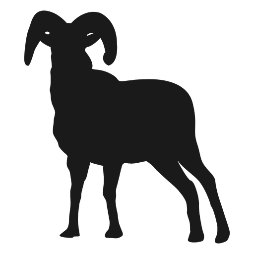 Silueta de cabra 2