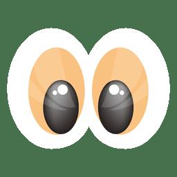 Gold eyes cartoon