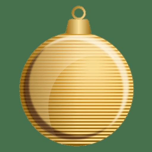 Bola De Natal Dourada Baixar Png Svg Transparente