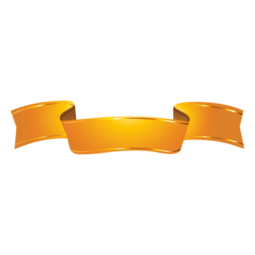golden ribbon wave transparent png svg vector