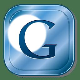 botão do Google de metal