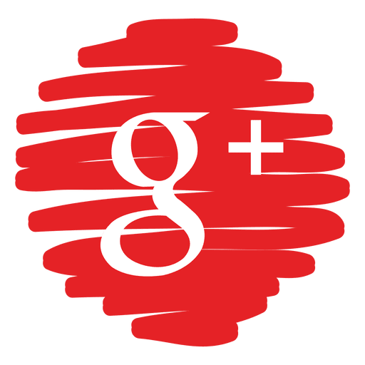 Google plus distorted round icon