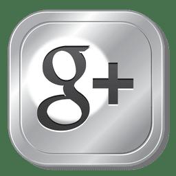 Botón de Google plus metal