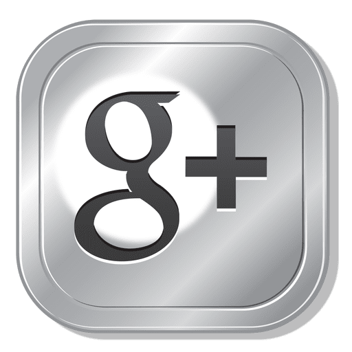 Google plus metal button Transparent PNG