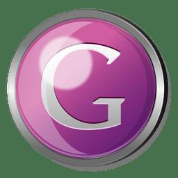 Botão redondo de metal do Google