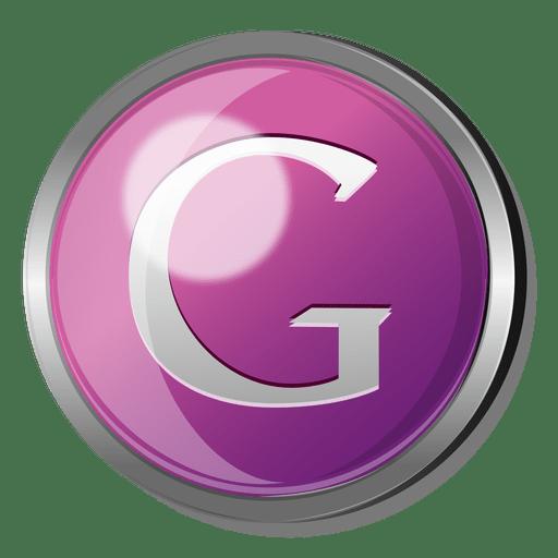 Google round metal button