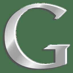 Ícone de letra G do Google prata