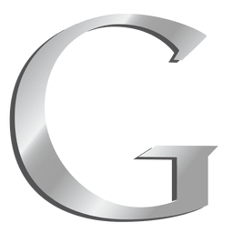 Letra G icono de Google silver