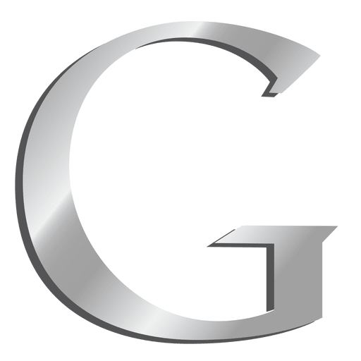 G letter Google silver icon Transparent PNG