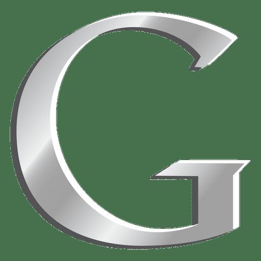 Ícone de letra G do Google prata Transparent PNG