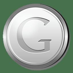 Icono de plata de Google