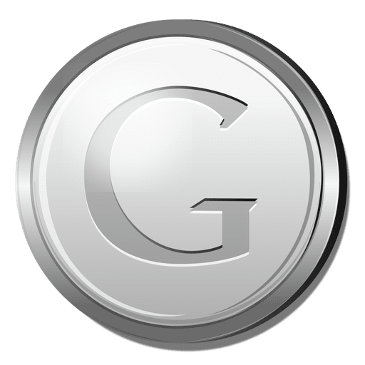 Google silver icon Transparent PNG