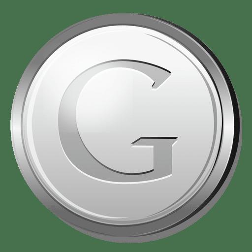 Ícone de prata do Google Transparent PNG