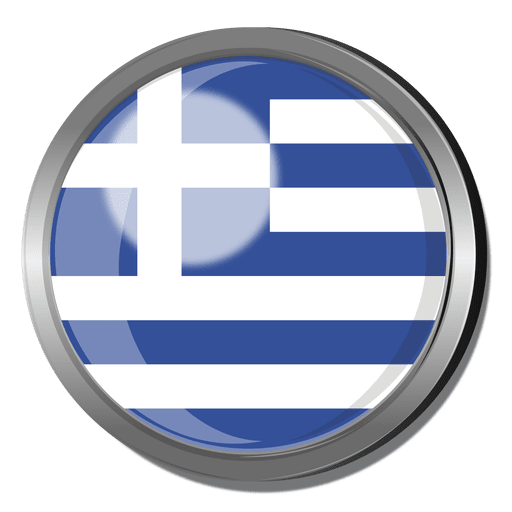 Greece flag badge Transparent PNG
