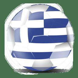Bandera del fútbol de grecia
