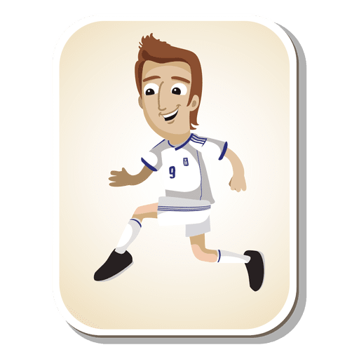 Greece football player cartoon Transparent PNG