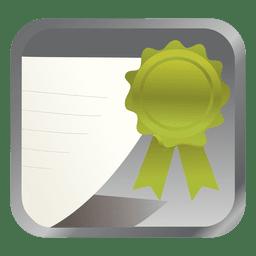 Green badge square icon