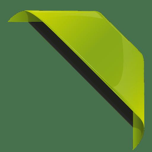 Green bookmark ribbon