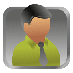 Green businessman square avatar