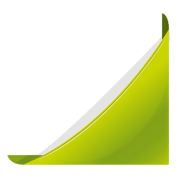 Green corner bookmark
