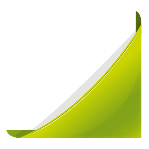 Green corner bookmark Transparent PNG