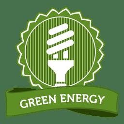 Emblema de energia verde