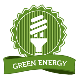 Green energy badge