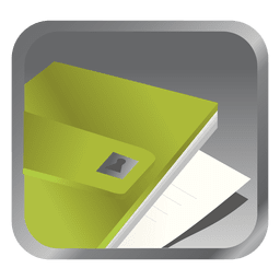 Green file square icon
