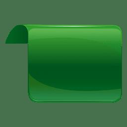 Etiqueta invertida verde