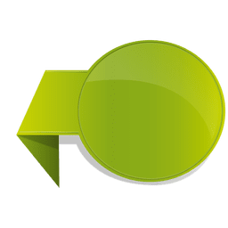 Green flipped sticker