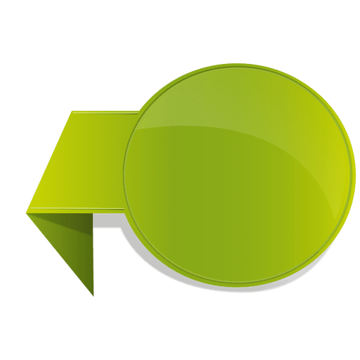 Green flipped sticker Transparent PNG