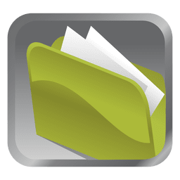 Ícone quadrado pasta verde