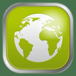 Grüne Globus-Symbol