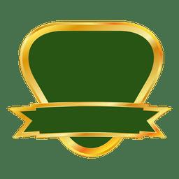 Emblema de fita de ouro verde