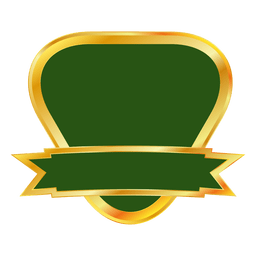 Green gold ribbon emblem
