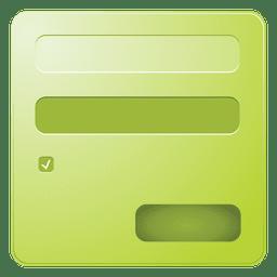 Cuadro de inicio de sesión verde