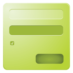 Green login box