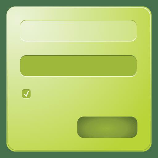 Cuadro de inicio de sesión verde Transparent PNG