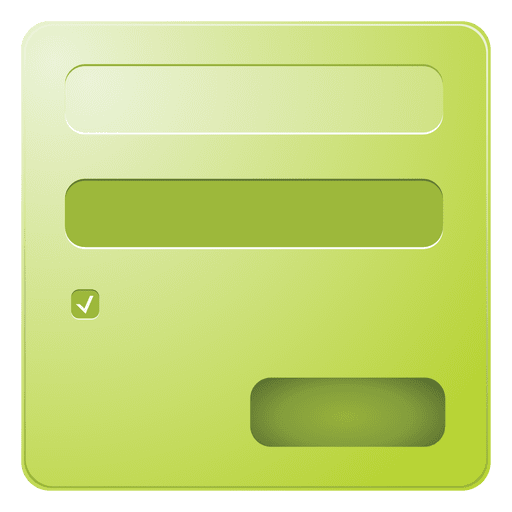 Green login box Transparent PNG