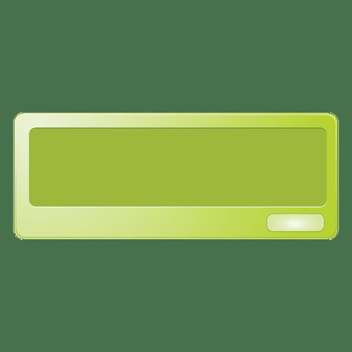 Cuadro de mensaje verde Transparent PNG