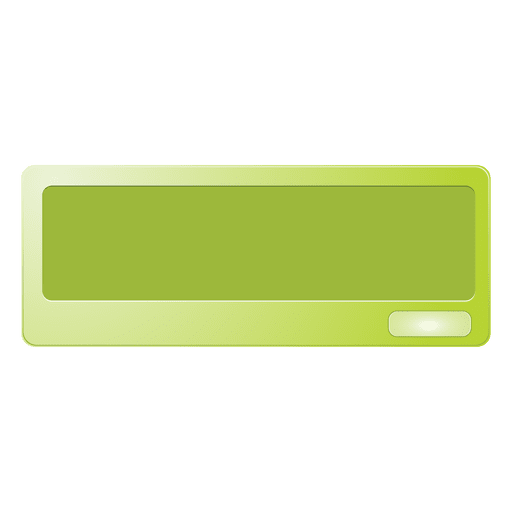 Green message box Transparent PNG