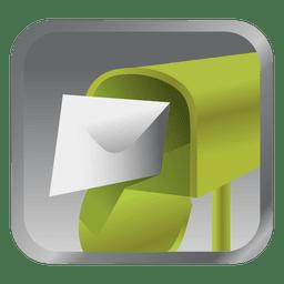Ícone de caixa de mensagem verde