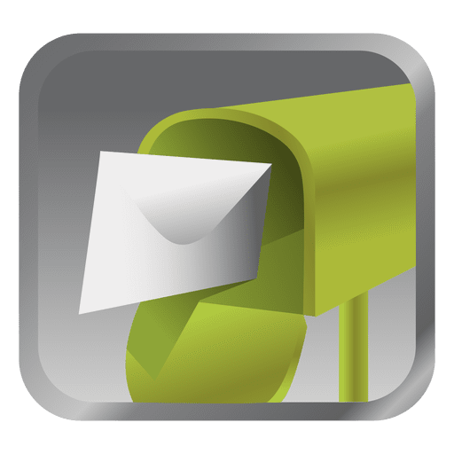 Icono de cuadro de mensaje verde Transparent PNG