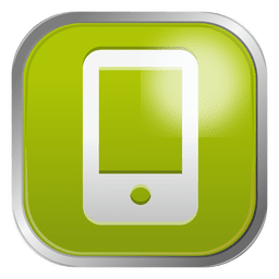 Green mobile icon
