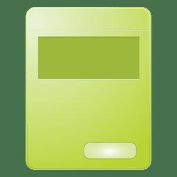 Caja de producto verde