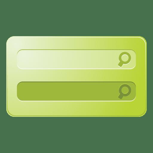 Cuadro de búsqueda verde Transparent PNG