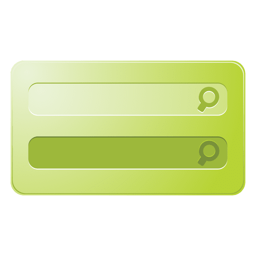 Green search box Transparent PNG