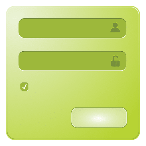 Green signin box Transparent PNG