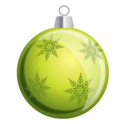 Green snowflakes bauble